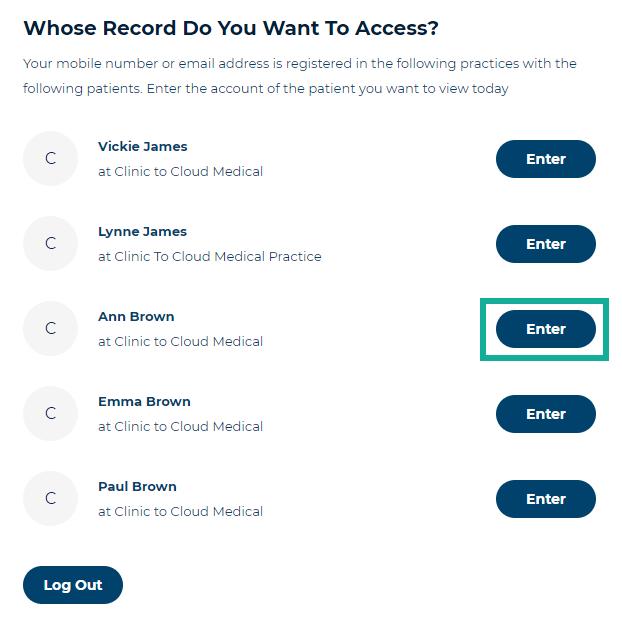 2. choose patient