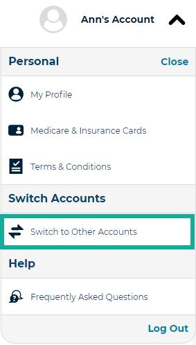 3b.  switch accounts
