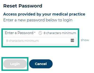 4. set password