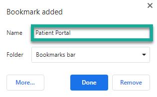 Adding Bookmark