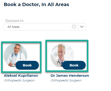 Doctor Profile in Portal Highlighted